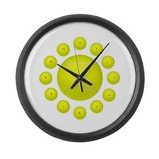 Unique Tennis Large Wall Clock
