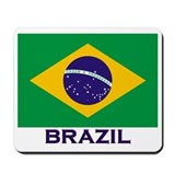 Brazil Flag Stuff Mousepad