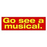 Gee See a Musical. Bumper Sticker (50 pk)