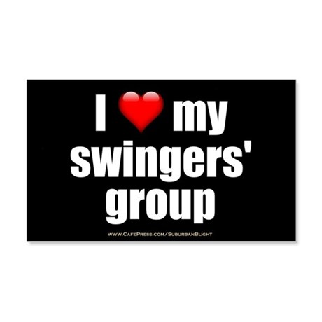 """Love My Swingers' Group"" 20x12 Wall Decal"