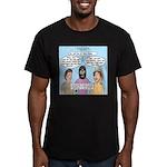 Road to Emmaus Men's Fitted T-Shirt (dark)
