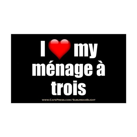 """Love Menage a Trois"" 35x21 Wall Decal"