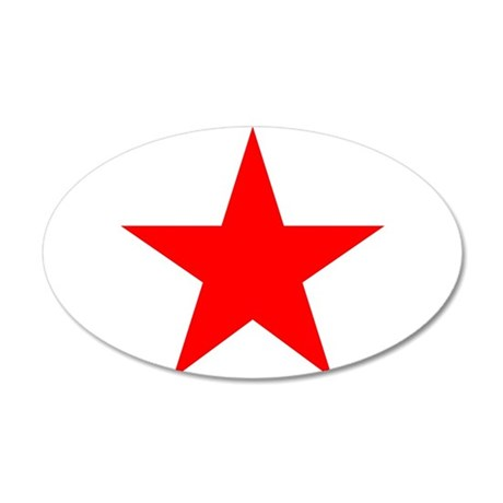 Red star 1 20x12 Oval Wall Decal