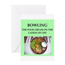 bowling Greeting Card