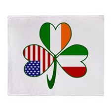 Shamrock of Italy Throw Blanket
