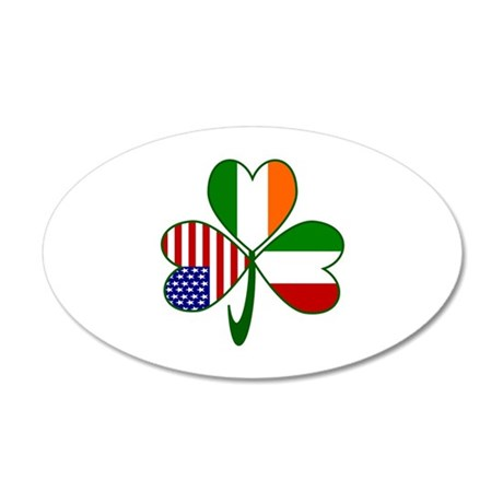 Shamrock of Italy 20x12 Oval Wall Decal