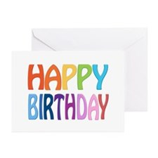 Happy Birthday - Happy Greeting Cards (pk Of 20)