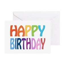 Happy Birthday - Happy Colourful Greeting Cards
