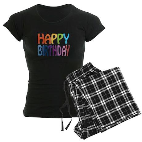 happy birthday - happy Women's Dark Pajamas