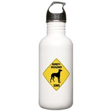Greyhound Crossing Sign Water Bottle