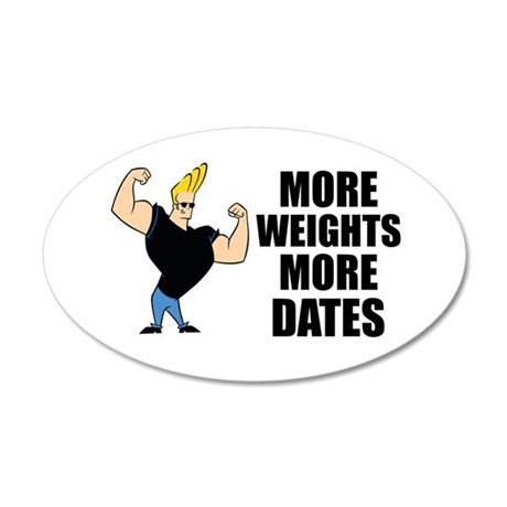 Johnny Bravo Muscles 35x21 Oval Wall Decal