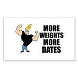 Johnny Bravo Muscles Decal