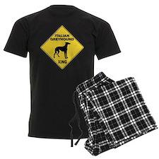 Italian Greyhound Crossing Sign Pajamas