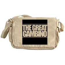'The Great Gambino' B/W Messenger Bag