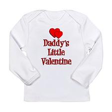 Daddys Little Valentine Long Sleeve Infant T-Shirt