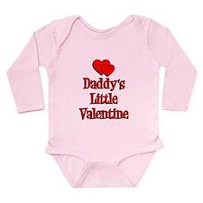 Daddys Little Valentine Long Sleeve Infant Bodysui