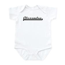 Black jersey: Alexandra Infant Bodysuit