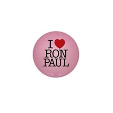Cute I voted for ron paul Mini Button (10 pack)