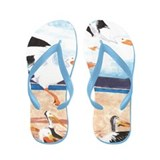 Pelicans- God's Creatures Flip Flops