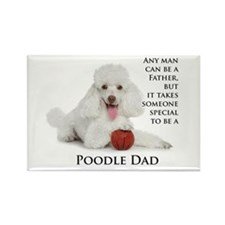 Poodle Dad Rectangle Magnet