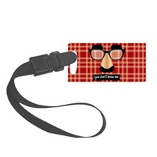Disguise Glasses Luggage Tag