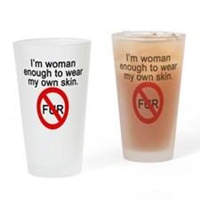No to Fur Drinking Glass