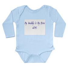 My Daddy is my hero USMC Long Sleeve Infant Bodysu