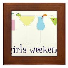 Girls Weekend Framed Tile