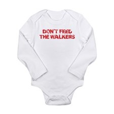 Dont Feed The Walkers Long Sleeve Infant Bodysuit