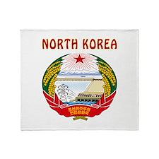 North Korea Coat of arms Throw Blanket
