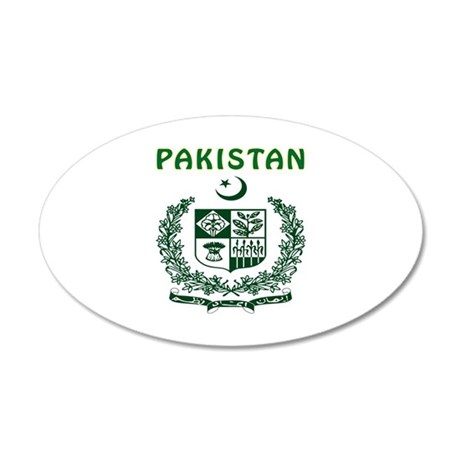 Pakistan Coat of arms 35x21 Oval Wall Decal