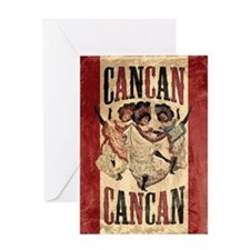 Vintage Cancan Poster Art Greeting Card