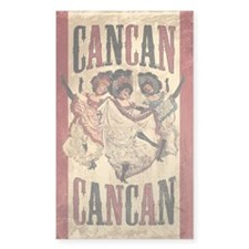 Vintage Cancan Poster Art Decal