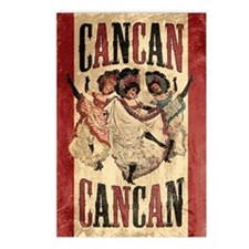 Vintage Cancan Poster Art Postcards (Package of 8)