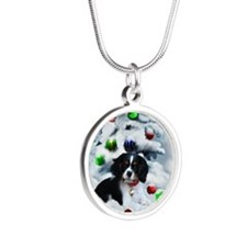 Cavalier King Charles Silver Round Necklace