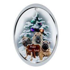 Chinese Shar-Pei Ornament (Oval)