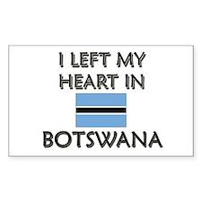 I Left My Heart In Botswana Rectangle Decal