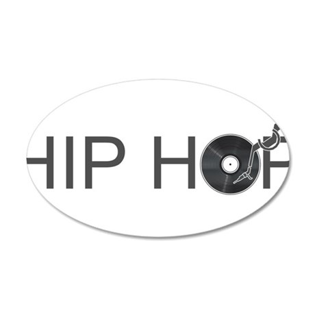 Hip Hop Vinyl 35x21 Oval Wall Decal