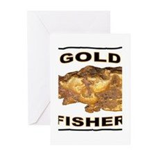 GOLD FISHER Greeting Cards (Pk of 20)