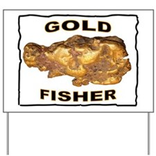 GOLD FISHER Yard Sign