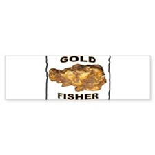 GOLD FISHER Bumper Sticker