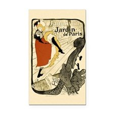 Vintage Cancan Poster Art Rectangle Car Magnet