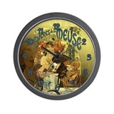Vintage Art Nouveau Poster Art  Wall Clock