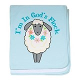 I'm in God's Flock baby blanket