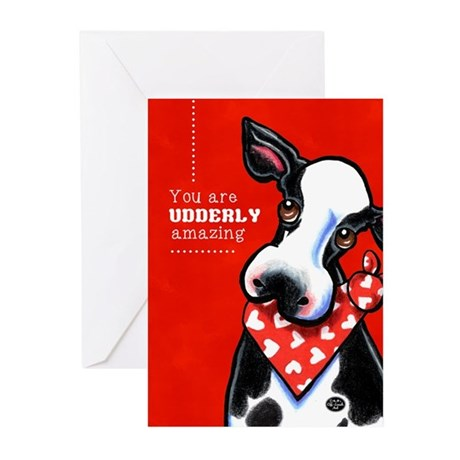 Udderly Amazing Funny Cow Greeting Cards (Pk of 20