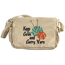 Keep Calm and Carry Yarn Messenger Bag