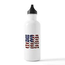USA USA USA 4th July Water Bottle