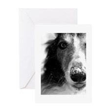 Cute Borzoi puppy Greeting Card