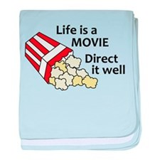 Life is a Movie baby blanket