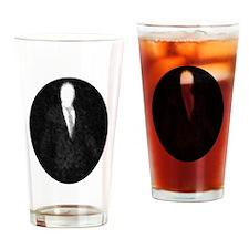 Slenderman Emblem Drinking Glass